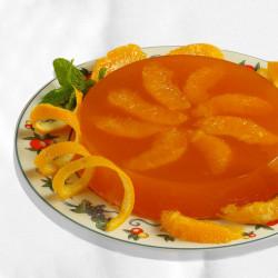 Gelatina all'arancia profumata alla menta e zafferano