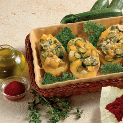 Patate gratinate con Zucchine allo Zafferano