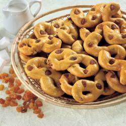 Biscotti al burro e uvetta allo Zafferano