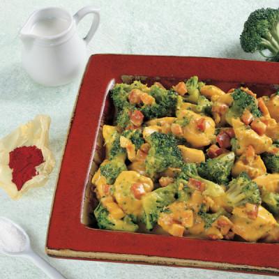 Pollo e Broccoletti saporiti allo Zafferano