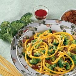 Bucatini con Broccoletti alla Siciliana