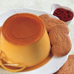 Caramel custard allo Zafferano