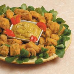 Crocchette con salsa di melanzane