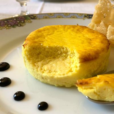Flan di formaggi allo Zafferano Leprotto