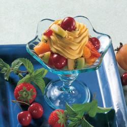 Frutta Fresca con Panna e Zafferano