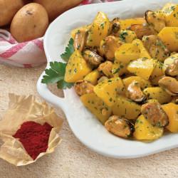Cozze e Patate in insalata allo Zafferano
