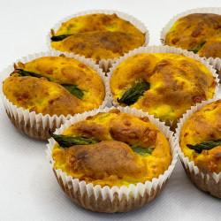 Muffin asparagi e Zafferano Leprotto