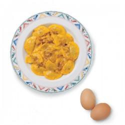 Ravioli con sugo di Panna Salsiccia e Zafferano