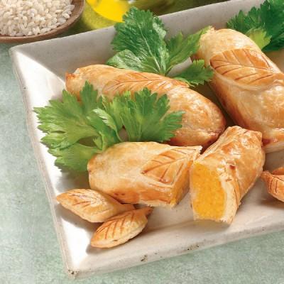Crocchette di sfoglia con risotto allo zafferano