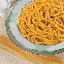 Spaghetti con salsa al Curry e Zafferano