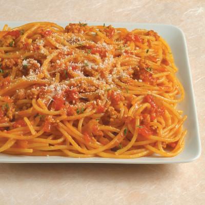 Spaghetti gialli al ragù di agnello