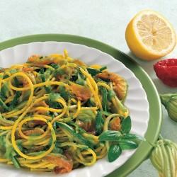 Spaghetti Zucchine, Avocado e Zafferano