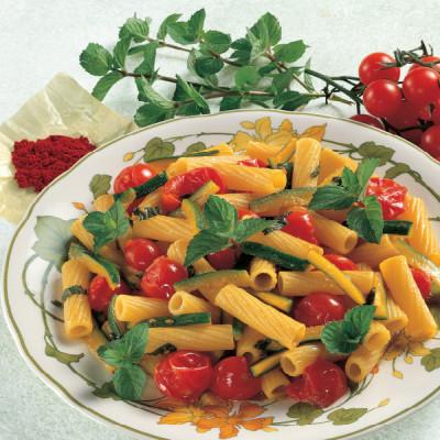 Tortiglioni Zucchine, Pomodori, Zafferano