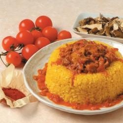 Tortini di riso funghi e salsiccia allo zafferano
