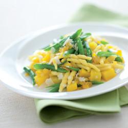 Trofie fagiolini, patate e zafferano