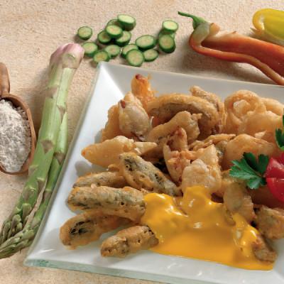 Verdure Fritte in Salsa di Zafferano