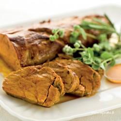 Arrosto di filetto di maiale allo zafferano