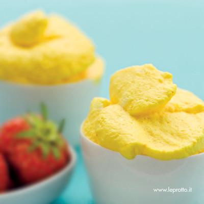 Mousse di limone allo zafferano
