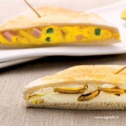 Toast classico con stracchino allo zafferano