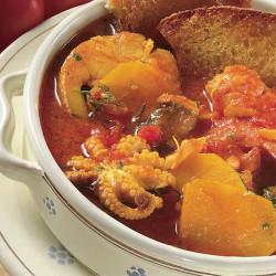 Zuppa di pesce al profumo di zafferano